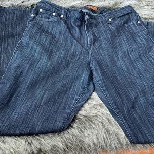 Sky Silver Sequin Pockets Dark Wash Denim Jeans
